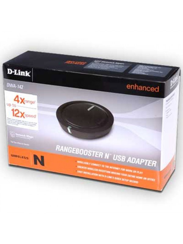 D-Link DWA-142 RangeBooster N Draft-11n USB 2.0 Adapter