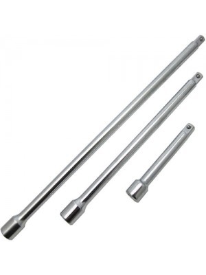 3 Pc Extension Bar Set With 1/4Inch Drive - 3,6&9Inch Sockets