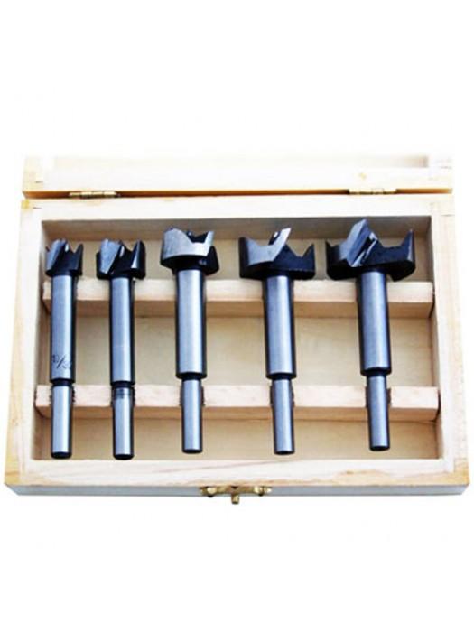 5 Pc Forstner Flat Bottom Blind Hole Bit Set - 15,20,25,30,35mm