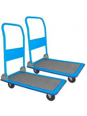 Set Of 2 100Kg Load Capacity Folding Warehouse Platform Trucks