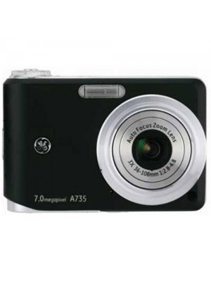 GE A735 7.0 Megapixel Digital Camera With Face Detection Black