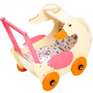 Gerda Goose Wooden Childrens Play Doll Push Chair Buggy Pram