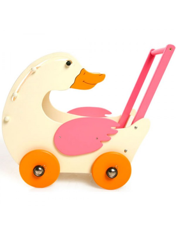 Gerda Goose Wooden Childrens Play Doll Push Chair Buggy Pram