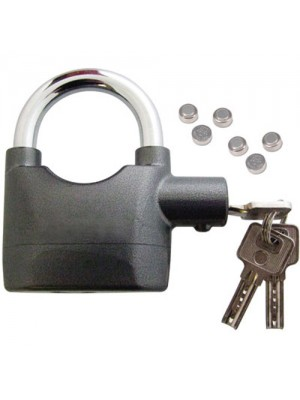 Heavy Duty Motion & Shock Sensor Alarm Padlock + 12 Batteries