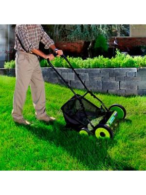 Eco Friendly Cylinder Hand Power Push Garden Grass Lawn Mower