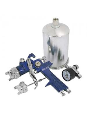 HVLP Air Spray Gun Kit With Air Regulator Valve & Guage