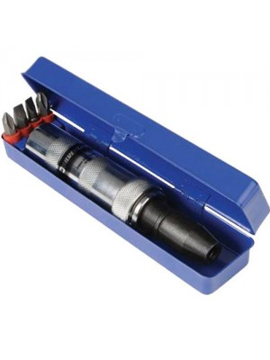 Impact Screwdriver Kit - Includes Metal Case & Bits
