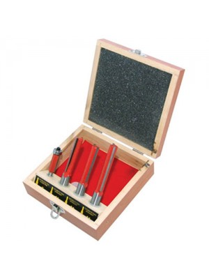 4 Piece Kitchen Router Tool Bit Set - In Wooden Case