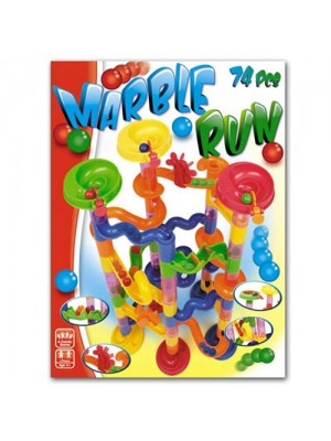 74 Pc Create Your Own Marble Run - Hours Of Fun!