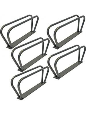 Wall Mounted Metal Bike Stand Lock Storage Rack - Pack Of 5