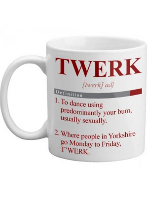 Real Meaning of Twerk Dictionary Style Novelty Definition Mug