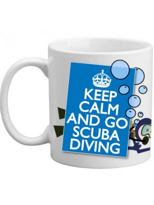 Keep Calm And Go Scuba Diving Swimming Divers Gift Mug