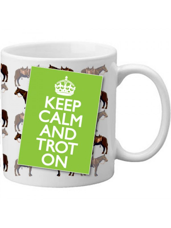 Keep Calm And Trot On Novelty Horse Lover Gift Mug