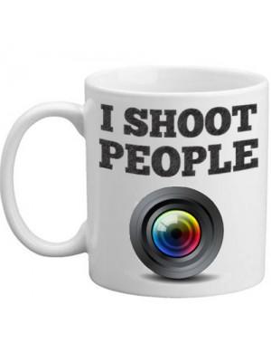 I Shoot People Novelty Camera Lens Photography Gift Mug
