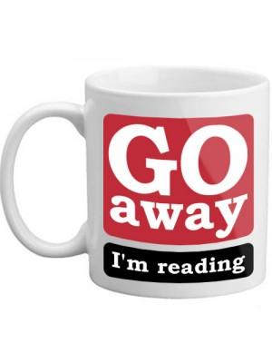 Go Away I'm Reading Novelty Bookworm Book Funny Gift Mug