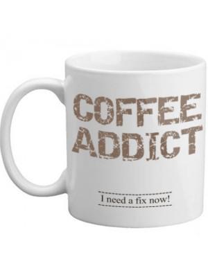 Coffee Addict I Need A Fix Now Novelty Coffee Funny Gift Mug