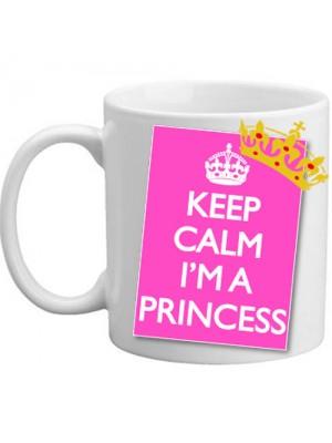 Keep Calm I'm A Princess Pink Ladies Girls Daughter Gift Mug