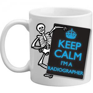Keep Calm I'm A Radiographer Skeleton X-Ray Gift Mug