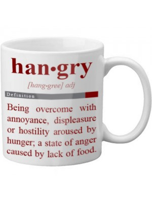 Real Meaning Of Hangry Dictionary Style Novelty Defintion Mug