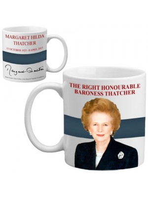 Magaret Baroness Thatcher Signature Memorial Mug