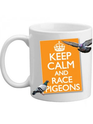 Keep Calm And Race Pigeons Present Gift Mug - 11oz