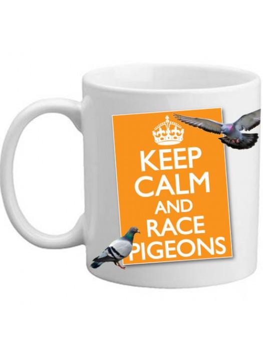 Keep Calm And Race Pigeons Present Gift Mug - 11oz