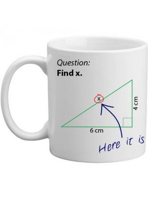 Find X Novelty Mathematics Maths Question Gift Mug - 11oz