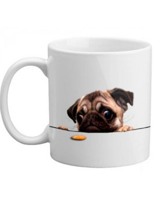 Cute Pug Biscuit 11oz Gift Mug Present Dog Lover Gift