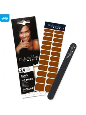 Myleene Klass Nails - 24 Wraps and Nail File - Chocolate Brown