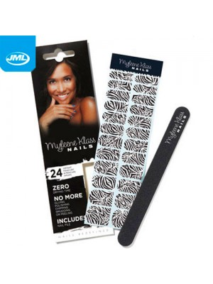 Myleene Klass Nails - 24 Wraps and Nail File - Zebra