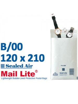 Mail Lite 120 x 210 White Bubble Lined Envelope B00 - Box of 100