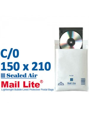 Mail Lite 150 x 210 White Bubble Lined Envelope C0 - Box of 100