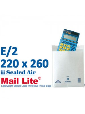 Mail Lite 220 x 260 White Bubble Lined Envelope E2 - Box of 100