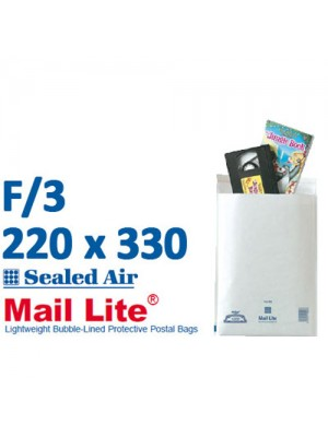 Mail Lite 220 x 330 White Bubble Lined Envelope F3 - Box of 50