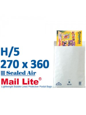 Mail Lite 270 x 360 White Bubble Lined Envelope H5 - Box of 50