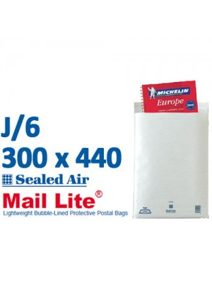 Mail Lite 300 x 470 White Bubble Lined Envelope J6 - Box of 50