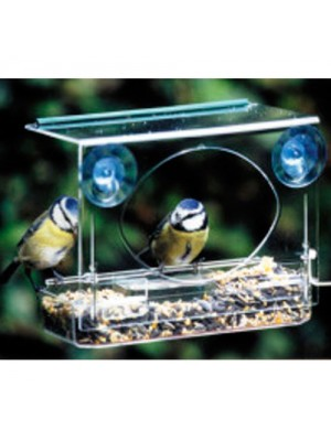 Meripac Suction Clear Window Wild Bird Feeder Table Overhang