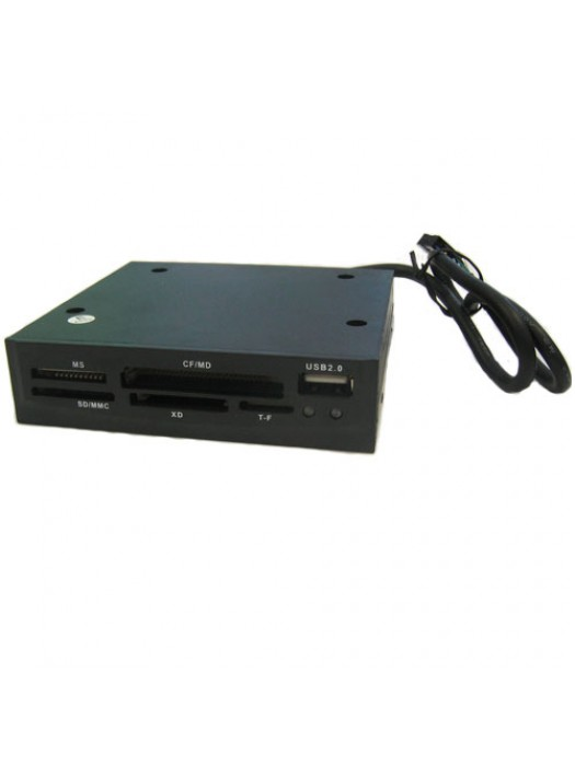 53 In 1 Internal 3.5 Inch Memory Card Reader - Black
