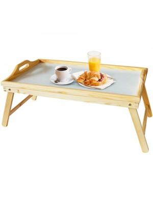 Large Pinewood Wooden Folding Bed Breakfast Tray