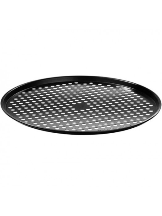 Non Stick Carbon Steel Kitchen Pizza Crisper Oven Tin Tray Pan