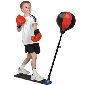 Kids Boxing Punch Ball Training Adjustable 80cm-120cm & Gloves!