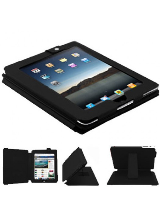 Faux Leather Case for the Apple iPad - Black