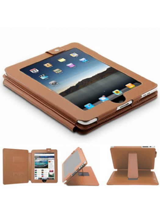 Faux Leather Case for the iPad - Brown