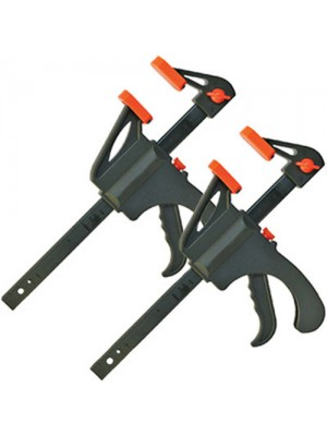 Set Of 2 One Handed 30cm Quick Action Bar Vice Clamps/Spreaders