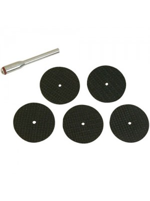 6 Pc Cutting Disc Kit Set For Rotary Dremel Tools 3.1mm Mandrel