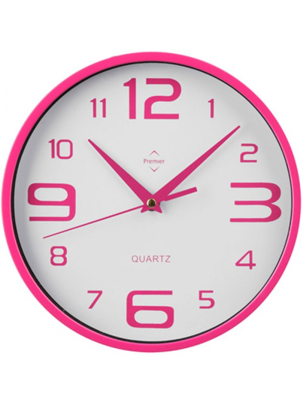 Retro Unique Kitchen Home Office Wall Clock Pink