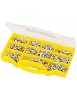 650 Piece Assorted Pop Rivets Pack With Storage/Carry Case