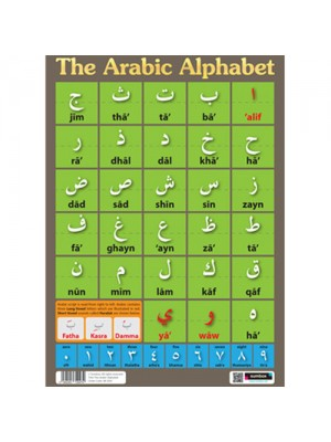 Sumbox Arabic Alphabet Educational Language Poster