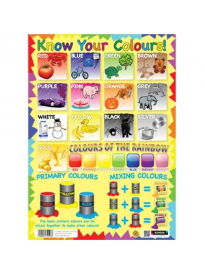 Sumbox Know Your Colours Early Learning Educational Poster