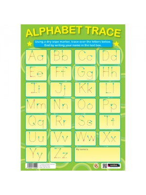 Sumbox Educational English Alphabet Trace Writing Wall Poster